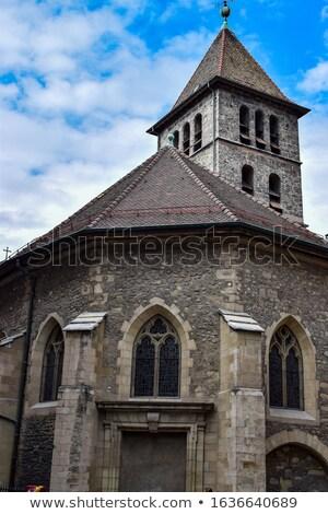 Kilise İsviçre tarih kalma geri bir Stok fotoğraf © borisb17