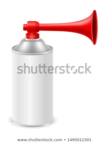 air horn for rescue sos or sports signals vector illustration Stock photo © konturvid