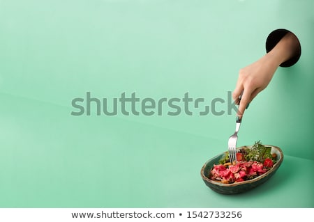 Plates 2020 on green wall Stock photo © Oakozhan