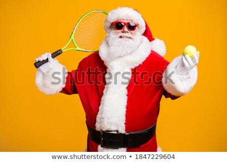 fiatalember · játék · tenisz · szabadtér · narancs · mező - stock fotó © lopolo