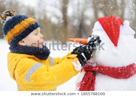 Hóember sál park gyönyörű derűs tél Stock fotó © Kotenko