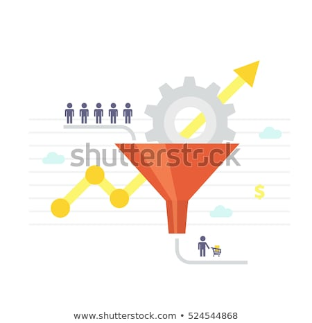 Sales funnel and lead generation vector concept metaphor. Stock photo © RAStudio