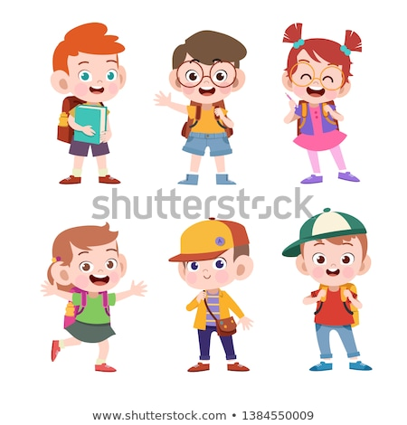 Classmates and Backpack, School Object Vector Stock photo © robuart