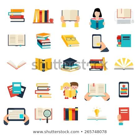 Stronie czytania online człowiek ebook wektora Zdjęcia stock © robuart
