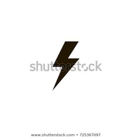 Thunder электроэнергии икона свет промышленности Сток-фото © bspsupanut
