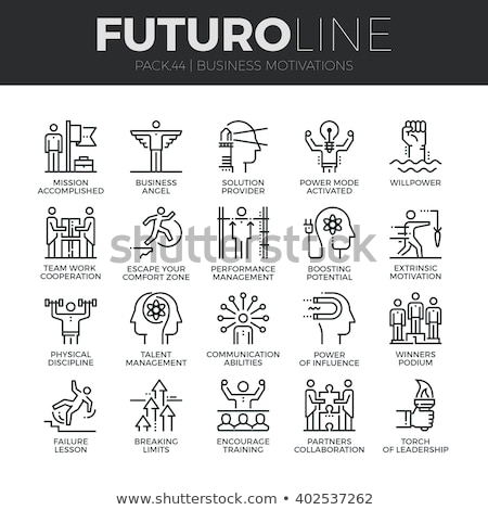 human talent collection elements icons set vector stock photo © pikepicture