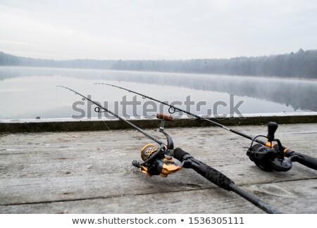 рыбалки оборудование пирс реке Сток-фото © Givaga