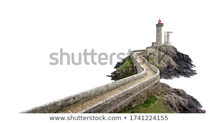 city landscape isolated in white background beautiful outdoor stock photo © cosveta