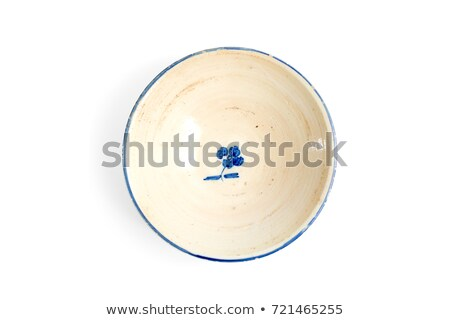 Clay Bowl Ceramic Dishware, Pattern of Blue Color Stock photo © robuart