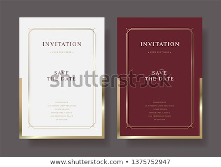 Invitation card in vintage style - vector template design Stock photo © blue-pen