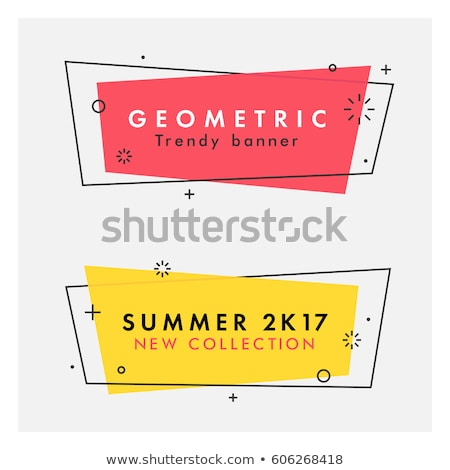 Ribbon banner for text flat color illustration Stock photo © barsrsind