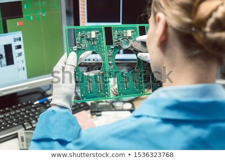 オプティカル · 品質管理 · 電子 · 製品 · 工場 - ストックフォト © kzenon