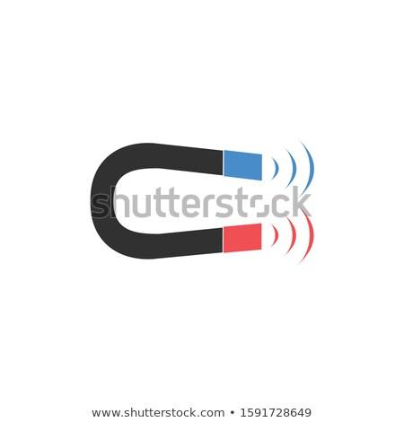 ímã símbolo ícone estoque isolado branco Foto stock © kyryloff