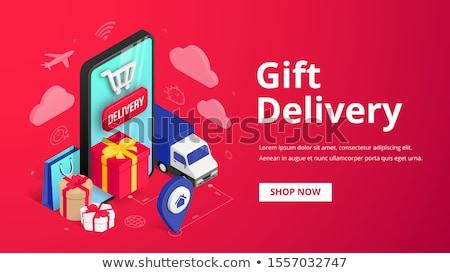 Eshop buy online store isometric icons Stock photo © frimufilms