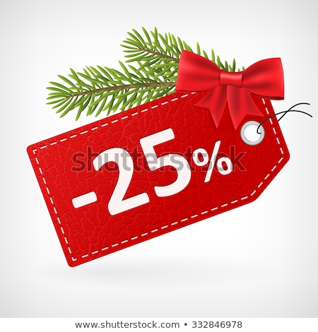 Christmas Sale 25 Percent Off Discount Vector Stock photo © robuart