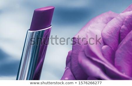 Roxo batom rosa flor líquido à prova d'água Foto stock © Anneleven