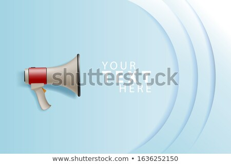 Megaphone white bubble for social media marketing concept. Place your text here. Vector announce for Stock photo © ikopylov