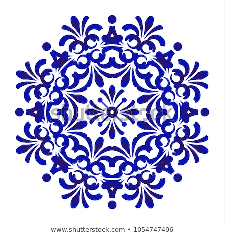 Mandala patronen Blauw illustratie achtergrond kunst Stockfoto © bluering