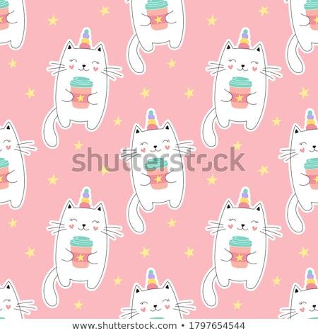 キティ かわいい 子猫 ホーン ストックフォト © Lightsource