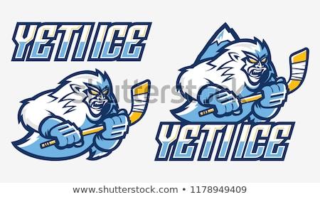 Yeti Ice Hockey Player Mascot Stock photo © patrimonio