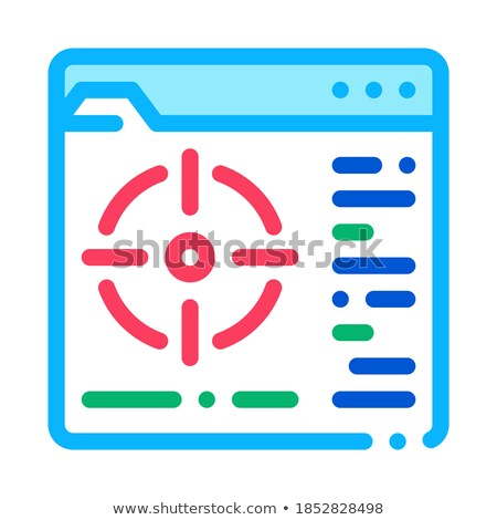 target to specific folder icon vector outline illustration Stock photo © pikepicture