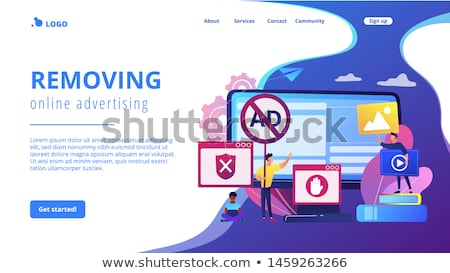 Ad blocking software concept landing page. Stock photo © RAStudio