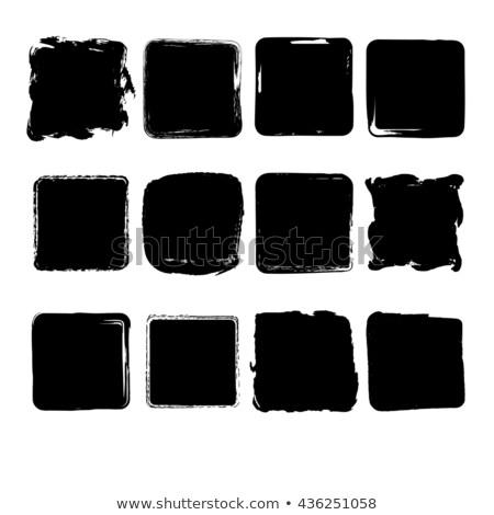 hand drawn uneven square frames set design Stock photo © SArts