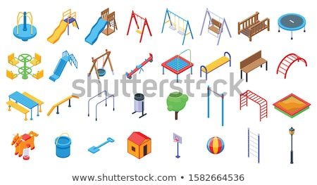 Set Kinder Spielplatz Park Illustration Kinder Stock foto © bluering