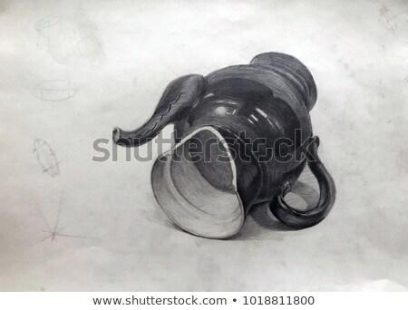 сломанной чайник академический рисунок иллюстрация воды Сток-фото © evgeny89