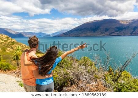 Reise Paar genießen Straße Reise New Zealand Stock foto © Maridav