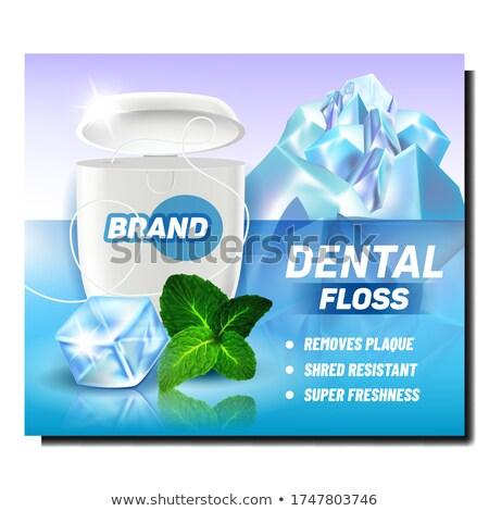 зубная нить пакет рекламный плакат вектора щетка Сток-фото © pikepicture