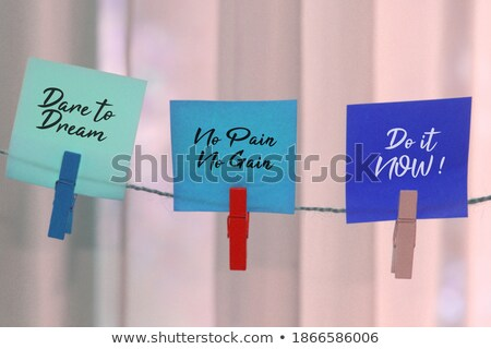 Life, Colorful words hang on rope Stock photo © Ansonstock