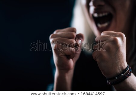 Stock photo: Aggressive manager
