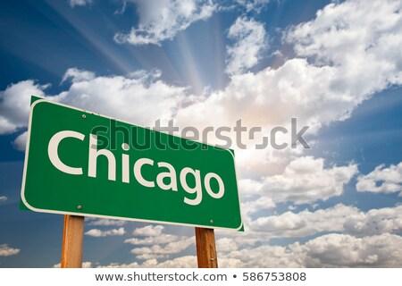 Иллинойс · шоссе · знак · высокий · разрешение · графических · облаке - Сток-фото © kbuntu