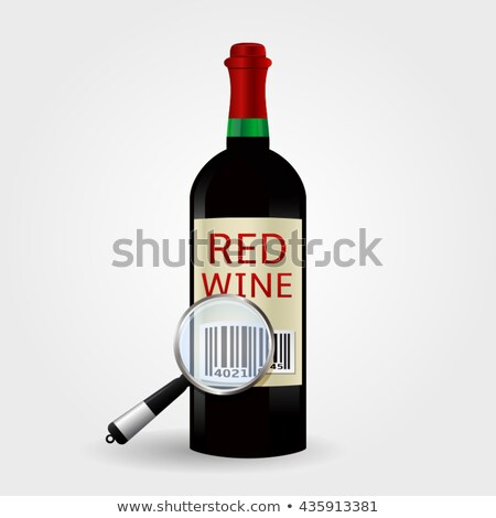 Wijn flessen streepjescode tag glas drinken Stockfoto © adrian_n
