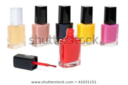 Varicoloured varnish for nail, open red vial Stock photo © RuslanOmega
