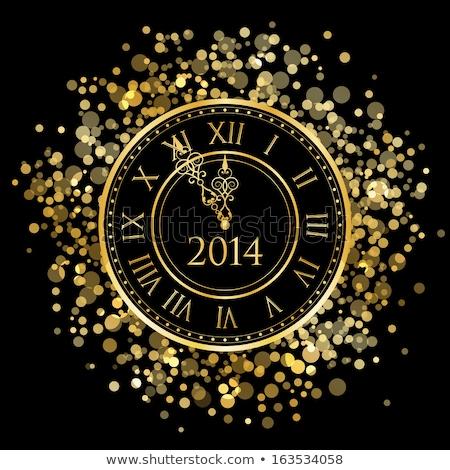 Photo stock: Temps · célébrer · horloge · mots · blanche · fête