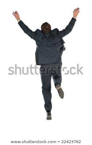 за прыжки бизнесмен бизнеса стороны человека Сток-фото © Paha_L