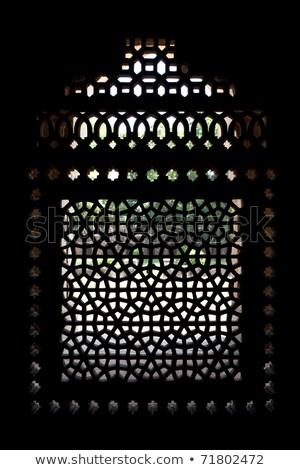 Marmer scherm venster graf Delhi complex Stockfoto © dmitry_rukhlenko