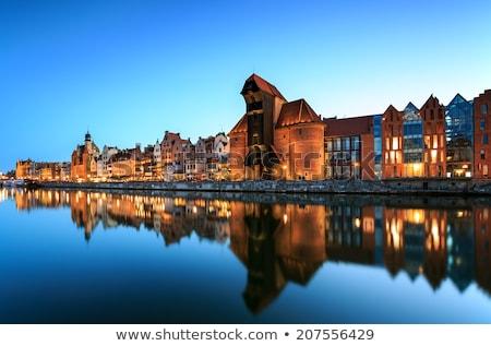 Ville gdansk bord de l'eau vieux rivière Pologne Photo stock © rognar