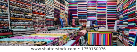 Photo stock: Tablettes · coloré · textiles · plein · tissu