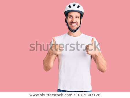 a man wearing a bike helmet Stock photo © photography33