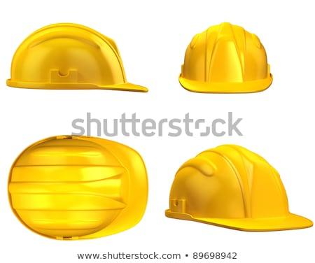 Stock photo: hard hat helmet, miner's helmet in yellow
