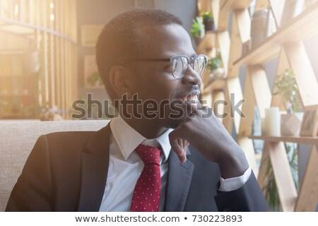 Ambitny młodych biznesmen tle myślenia firmy Zdjęcia stock © photography33
