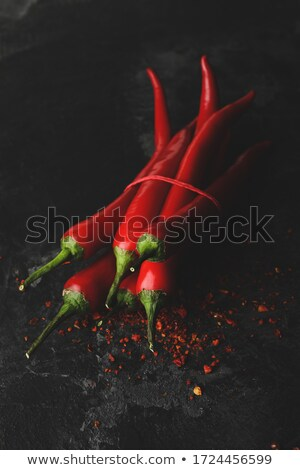 Bunch of fresh red chilies  Stock photo © calvste
