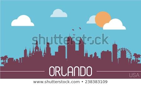 Cartoon Orlando horizonte silueta ciudad Florida Foto stock © blamb