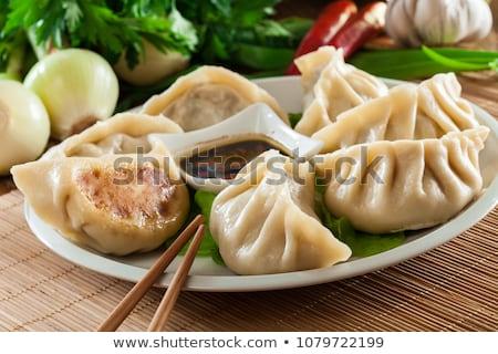 gombóc · kínai · étel · evőpálcika - stock fotó © garyfox45116