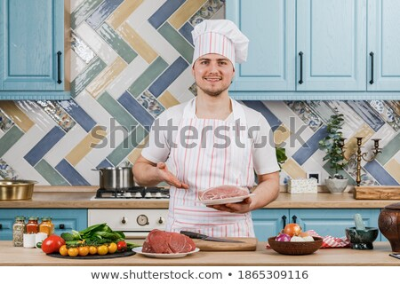 Fresco carne de porco carne seis branco Foto stock © pavel_bayshev