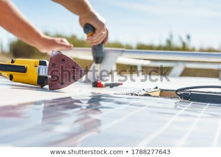 монтаж работу домой краской работник Сток-фото © photography33