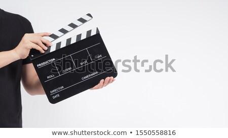 Homme main publicité cravate nombre promotion Photo stock © photography33